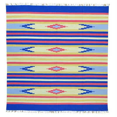 Rectangle 8 x 84 One-of-a-Kind Tolson Flat Weave Southwestern Killim Hand-Knotted Cotton Area Rug