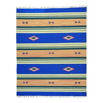 Rectangle 8 x 101 One-of-a-Kind Toohey Flat Weave Killim Reversible Hand-Knotted Cotton Area Rug