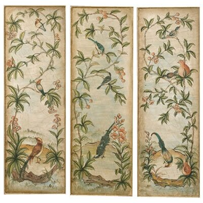 Aviary Panel I, II, and III Canvas Oil Paintings