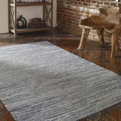 Stockton Hand-Woven Blue/Gray Area Rug Rug Size: 5 x 8