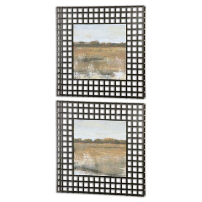 """Pastoral"""" by Grace Feyock 2 Piece Framed Painting Print Set 55020"""