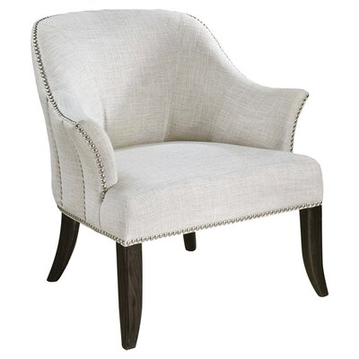 Leisa White Barrel Chair
