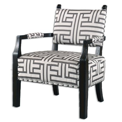 Terica Geometric Accent Armchair