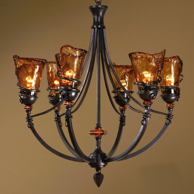 Soukaina 6-Light Shaded Chandelier