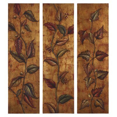 Climbing Vine Panels Wall Art - Set of 3