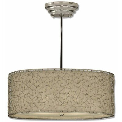 Brandon 3-Light Drum Foyer Pendant