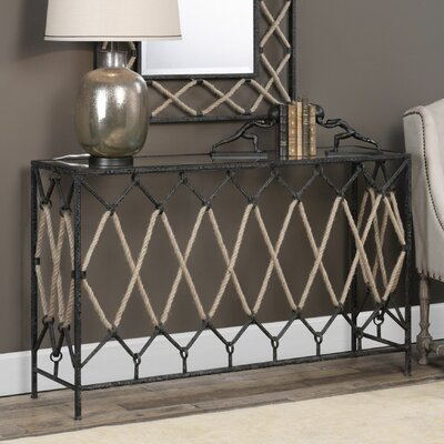 Breana Spruce Knob Console Table