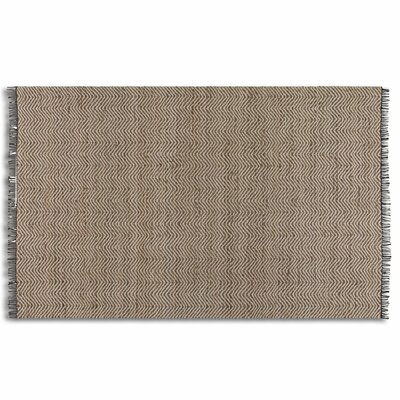 Dunanney Chevron Natural Area Rug Rug Size: 8 x 10