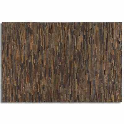 Albata Rust Brown Area Rug Rug Size: 5 x 8