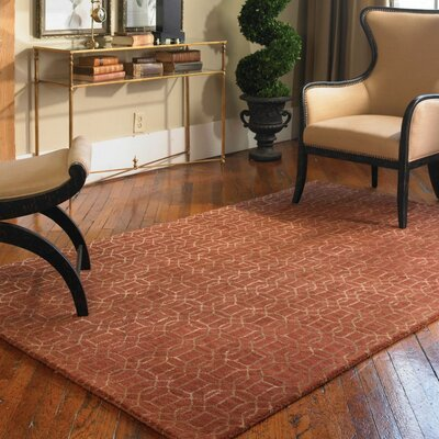Cambridge Cinnamon Red Geometric Area Rug Rug Size: 5 x 8