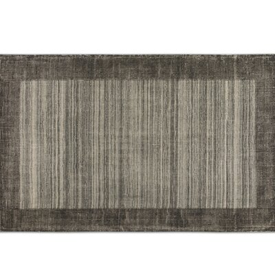 Zell Black/Gray Area Rug Rug Size: 5 x 8