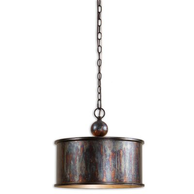 Everett 1-Light Drum Foyer Pendant