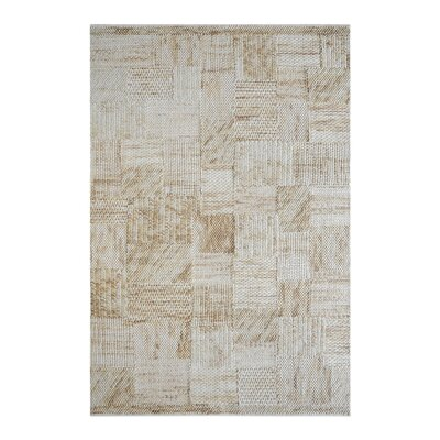Nettleton Hand-Woven Wool Beige Area Rug Rug Size: 9 x 12