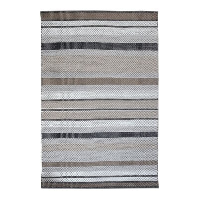 Heston Hand-Woven Wool Gray/Cream Area Rug Rug Size: 5' x 8'