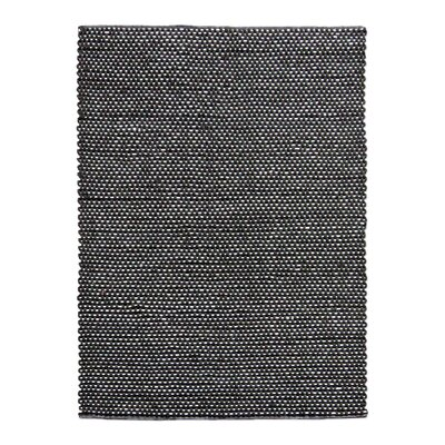 Petra Hand-Woven Wool Charcoal Area Rug Rug Size: 5 x 8