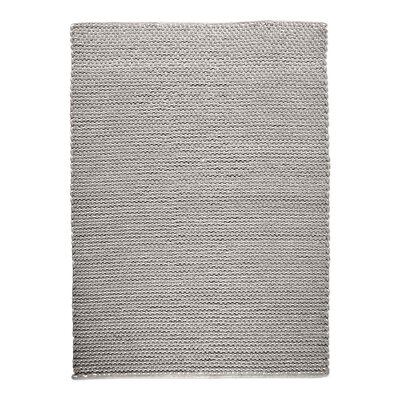 Petra Hand-Woven Wool Beige Area Rug Rug Size: 8 x 10