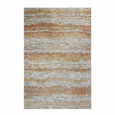 Clea Hand-Woven Terra Cotta Area Rug Rug Size: 8 x 10