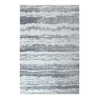 Clea Hand-Woven Gray Area Rug Rug Size: 8 x 10