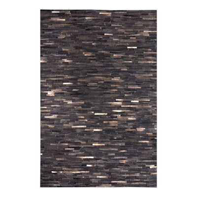 Hurst Hand-Woven Dark Brown Area Rug Rug Size: 9 x 12