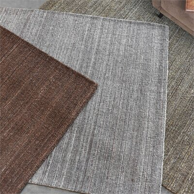 Neely Hand-Woven Wool Light Gray Area Rug Rug Size: 5 x 8