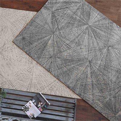 Nemeth Hand-Woven Wool Gray Area Rug Rug Size: 5 x 8