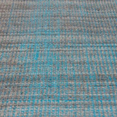 Neese Hand-Woven Wool Aqua Gray Area Rug Rug Size: 5 x 8
