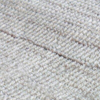 Neese Hand-Woven Wool Ivory Area Rug Rug Size: 5 x 8