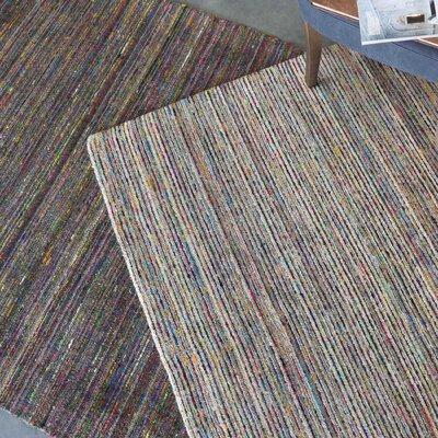 Newlon Hand-Woven Gray Area Rug Rug Size: 8 x 10