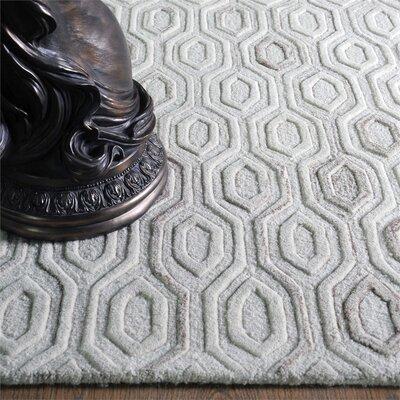 Newsom Hand-Woven Wool Ivory Area Rug Rug Size: 5 x 8