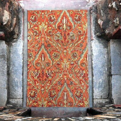 Evangelina Hand-Tufted Wool Red Area Rug Rug Size: 5 x 8