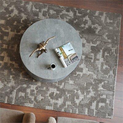Vada Hand-Woven Wool Gray Area Rug Rug Size: 5 x 8