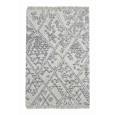 Reims Hand-Tufted Cotton Ivory Area Rug Rug Size: 5 x 8