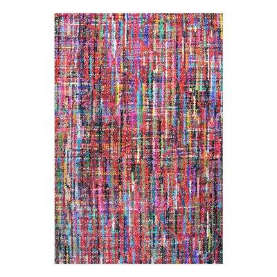 Nida Hand-Tufted Red/Blue/Black Area Rug Rug Size: 9 x 12