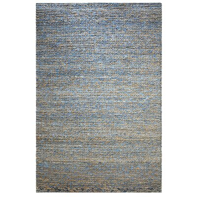 Erving Hand-Woven Natural Blue Area Rug Rug Size: 9 x 12