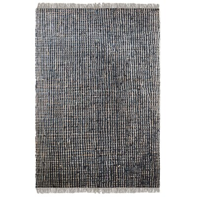 Dartmouth Hand-Woven Charcoal Area Rug Rug Size: 5 x 8