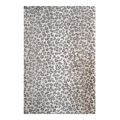 Kacie Hand-Tufted Wool Beige Area Rug Rug Size: 5 x 8