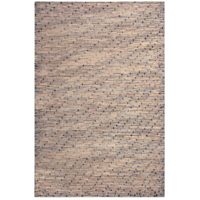 Dighton Hand-Woven Wool Beige/Navy Area Rug Rug Size: 5 x 8
