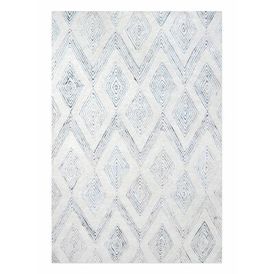 Nickell Hand-Tufted Wool Ivory Area Rug Rug Size: 8 x 10