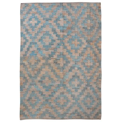 Cleaver Hand-Woven Teal Area Rug Rug Size: 8 x 10
