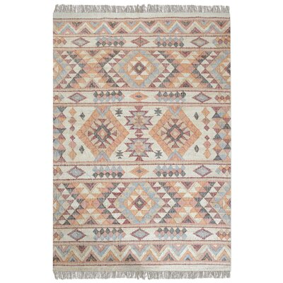 Gonzalez Hand-Woven Rust Orange Area Rug Rug Size: 9 x 12