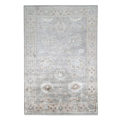 Petterson Hand-Knotted Gray Area Rug Rug Size: 9 x 12