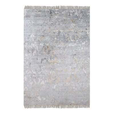 Cobbett Hand-Woven Gray Area Rug Rug Size: 5 x 8