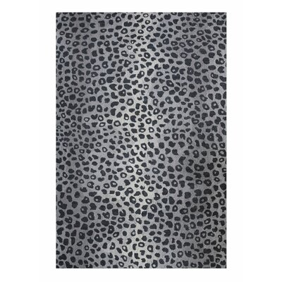 Kacie Hand-Tufted Wool Gray Area Rug Rug Size: 5 x 8