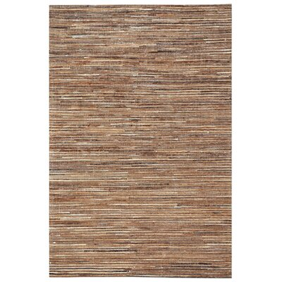 Macdonald Hand-Woven Light Brown Area Rug Rug Size: 5 x 8