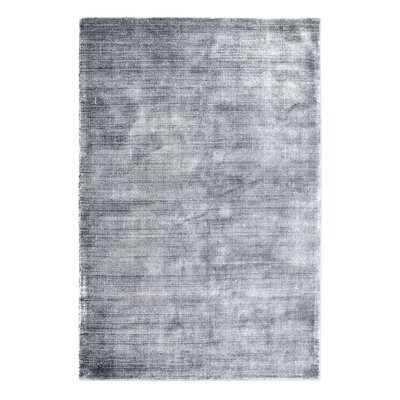 Netto Hand-Woven Silver Area Rug Rug Size: 5 x 8