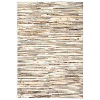 Macdonald Hand-Woven Ivory/Brown Area Rug Rug Size: 9 x 12
