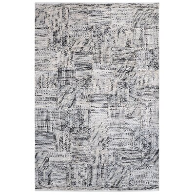 Nettleton Hand-Woven Wool Gray Area Rug Rug Size: 9 x 12