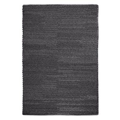 Raven Hand-Woven Wool Charcoal Area Rug Rug Size: 9 x 12