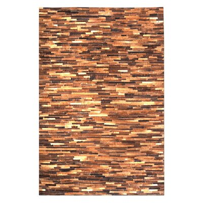 Hurst Hand-Woven Medium Brown Area Rug Rug Size: 9 x 12