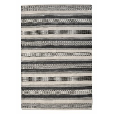 Colliers Hand-Woven Charcoal Indoor/Outdoor Area Rug Rug Size: 5 x 8